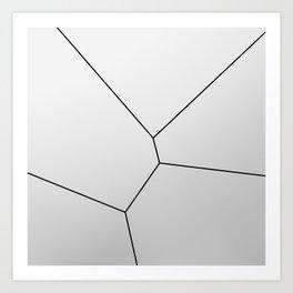 MNML BRKN SLVR Art Print