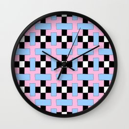 symetric patterns 47 -mandala,geometric,rosace,harmony,star,symmetry Wall Clock