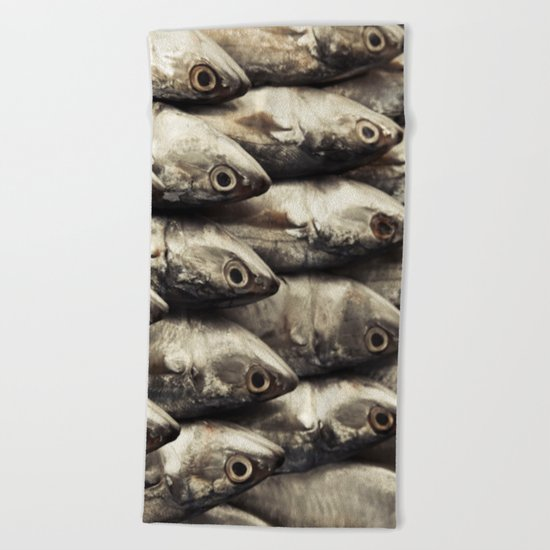 Fresh Fish Beach Towel