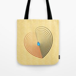 Out of the Blue -- an unbalanced heart Tote Bag