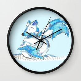 Ice Kitsune Kit Wall Clock