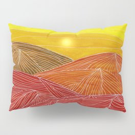 Lines in the mountains IX Pillow Sham