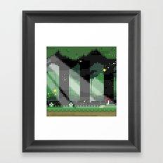 Zelda: Lost Woods Framed Art Print