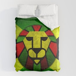 Rasta Lion. Comforters