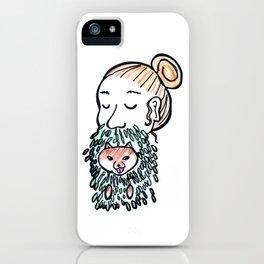 Inu-Bush and Man-Bun iPhone Case