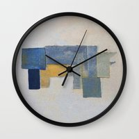 rustic Wall Clocks featuring Rustic Rhino by Fernando Vieira