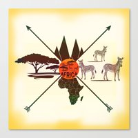 africa Canvas Prints featuring Africa by famenxt