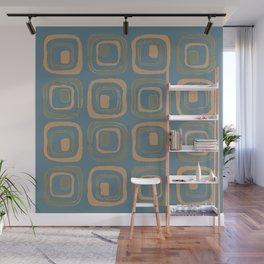 Blueprint Pattern N5 Wall Mural