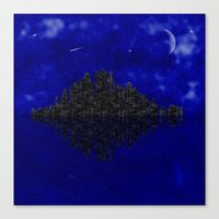 skyline Canvas Prints featuring Skyline by Mi Nu Ra