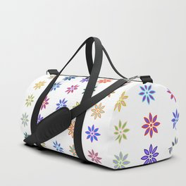 Colorful Spring Flower Pattern Duffle Bag