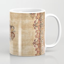 Tabriz  Antique North West Persian Silk Prayer Rug Coffee Mug