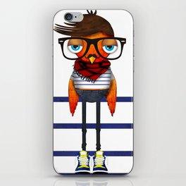 Hipster Bird iPhone Skin
