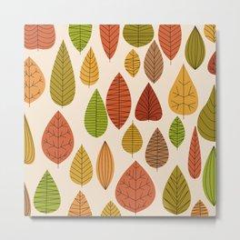 Geometric Leaves Metal Print