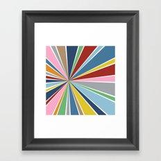 Star Burst Color Framed Art Print