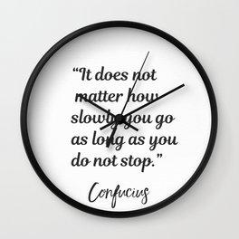 Confucius quote Wall Clock