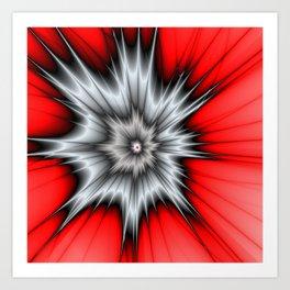 Crazy, Abstract Fractal Art Art Print