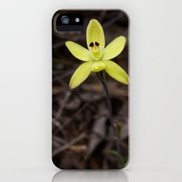 Lonely orchid iPhone Case