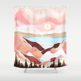 Autumn Lake Sunrise Shower Curtain