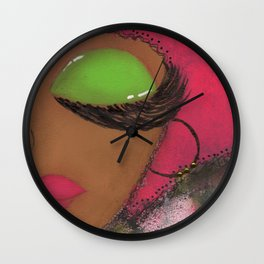 Pink and Green Sassy Girl Wall Clock