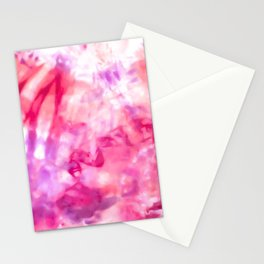 Artsy Abstract Summer Neon Pink Purple Tie Dye Stationery Cards
