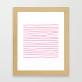 Pink Stripes Horizontal Framed Art Print