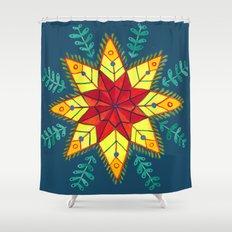 Folk Star Shower Curtain