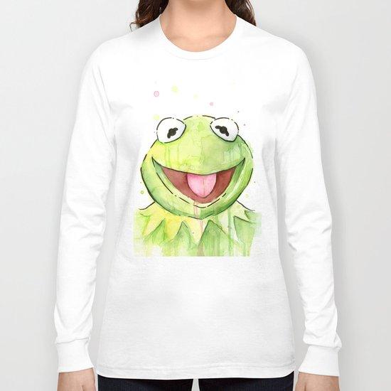 Frog Kermit Portrait Long Sleeve T-shirt