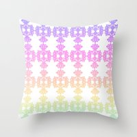 casablanca Throw Pillows featuring Sorbet in Casablanca by ZaWe