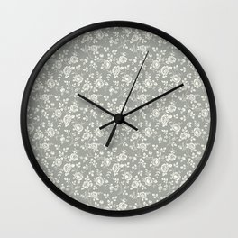 Beautiful Pattern #10 Roses Wall Clock