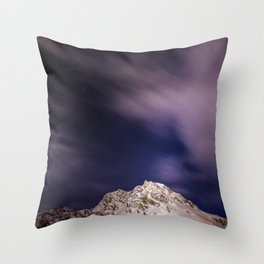 Alpine Night.. Throw Pillow
