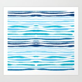 Sea pattern Art Print