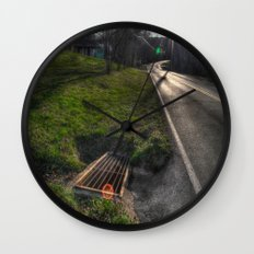 Down the road Wall Clock
