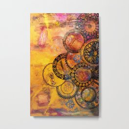 Mandala Be Grateful Metal Print