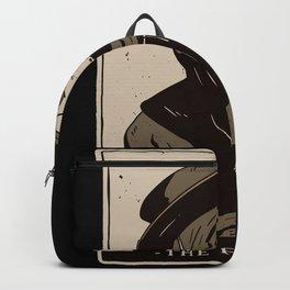 Tee design show a Tarot card with a Plague Doctor Backpack