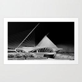 Milwaukee I by CALATRAVA architect Art Print