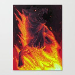 the devil says Canvas Print