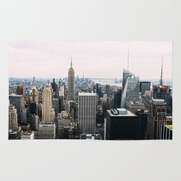 New York skyline from Top of the Rock Rug