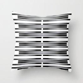 Silver Strip Pattern Throw Pillow