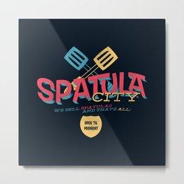Spatula City! (open edition) Metal Print