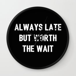 The Guilty Person V Wall Clock