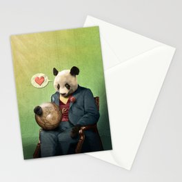 Wise Panda: Love Makes the World Go Around! Stationery Cards