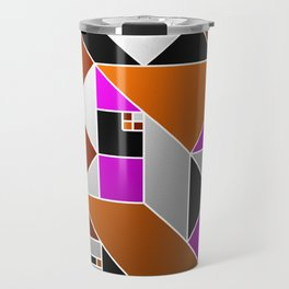 Metallic Mosaic - Geometric, abstract pattern Travel Mug