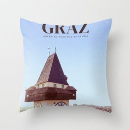 Visit Graz Throw Pillow