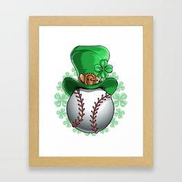 Baseball Saint Patricks Day Framed Art Print