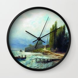 Landscape 1871 By Lev Lagorio | Reproduction | Russian Romanticism Painter Wall Clock