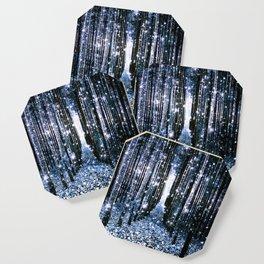 Magical Forest Dark Blue Elegance Coaster