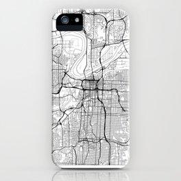 Kansas City Map White iPhone Case
