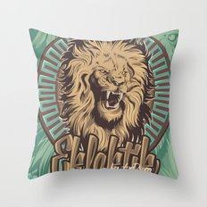 Lion print Throw Pillow