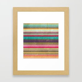 Stripes - pattern Framed Art Print