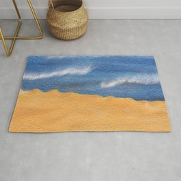 Sandy beach Rug